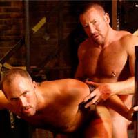 Trojan Rock gay muscle video from Alpha Male Fuckers