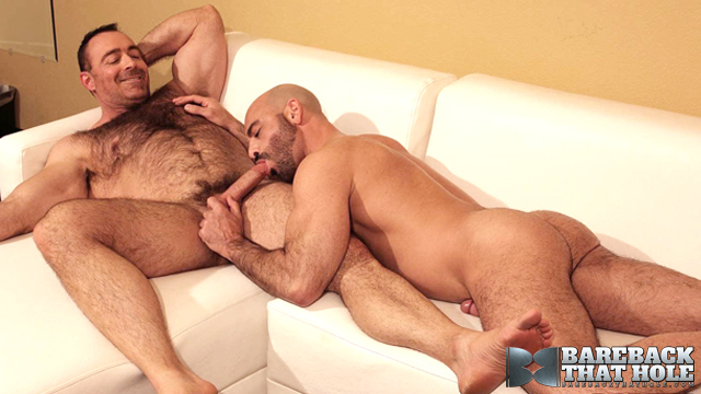Adam russo gets hairy anus fucked and licked