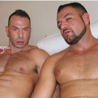 Nasty gays Antonio Cavelli and Marco Salqueiro - Muscle gay lovers fuck in this horny video movie
